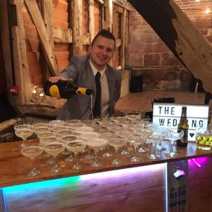 Rustic Wooden Mobile Bar Hire