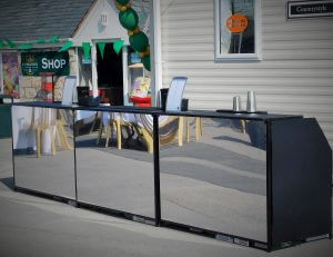 Mirrored Mobile Cocktail Bar Hire