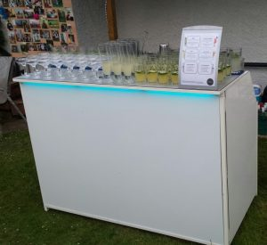 White Mobile Cocktail Bar Hire
