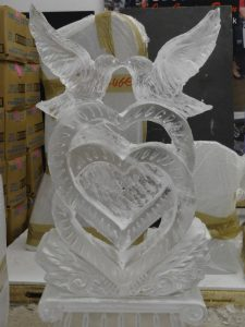 Doves Ice Sculpture