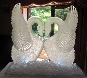 Swans Ice Sculpture