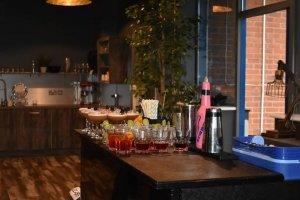 Black Mobile Cocktail Bar Hire