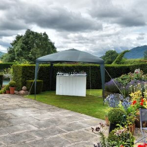 White Wooden Mobile Bar Hire