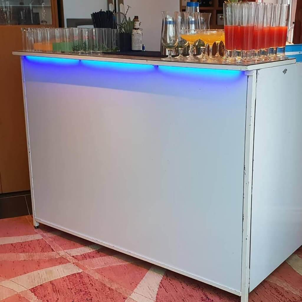 white gloss mobile bar hire - flirtina events