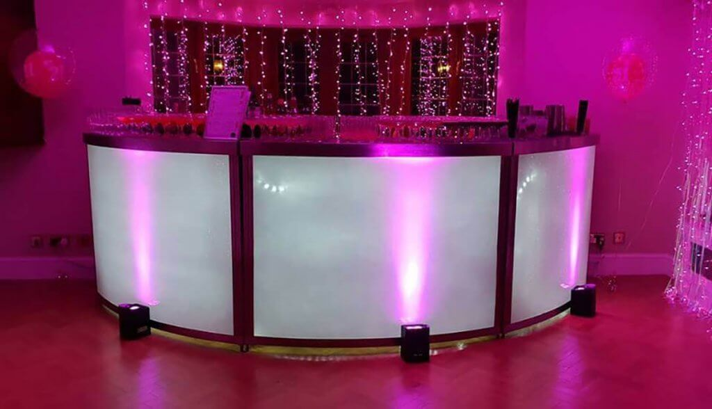circular illuminate mobile cocktail bar hire leamington spa west midlands - flirtina events