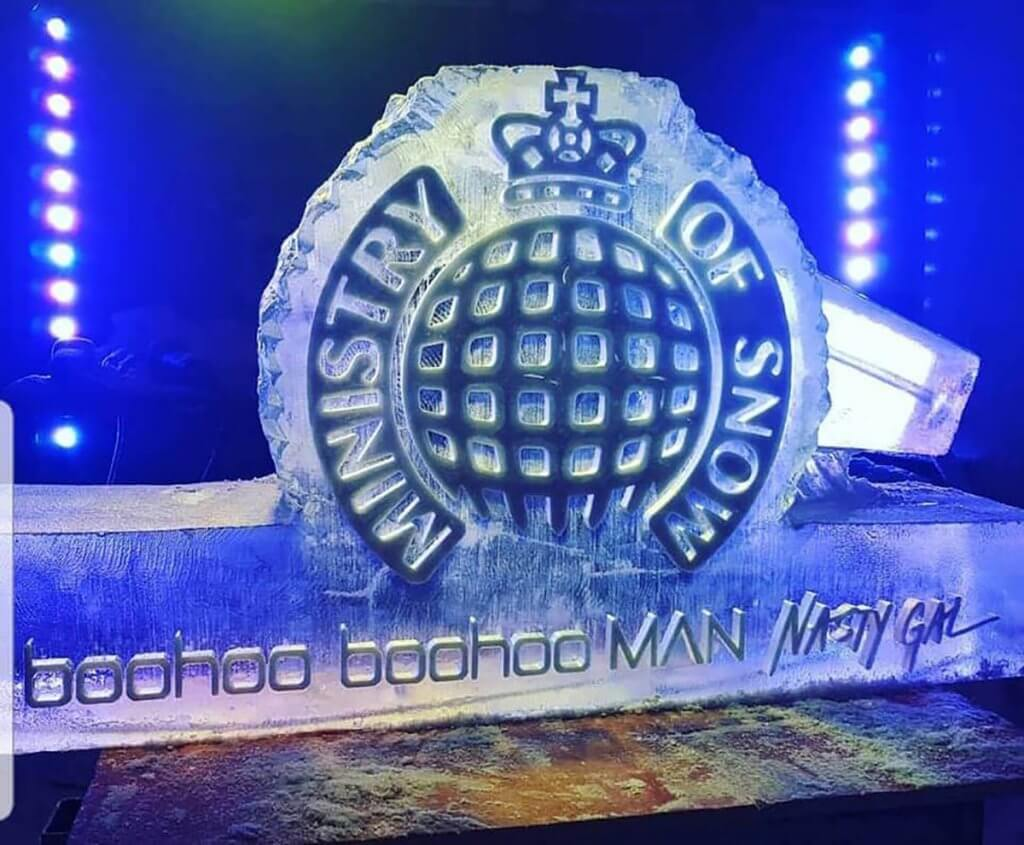 ice luge hire manchester ministry of sound - flirtina events