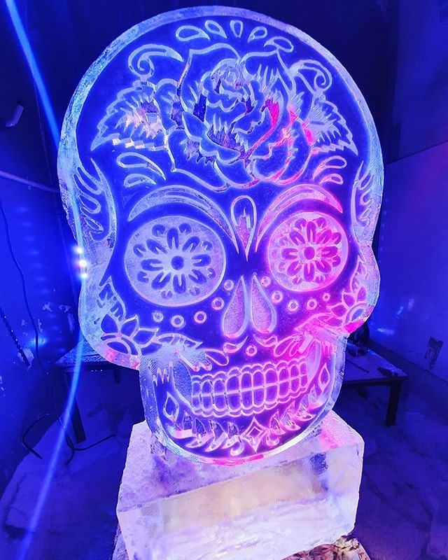 Day of the Dead Ice Luge